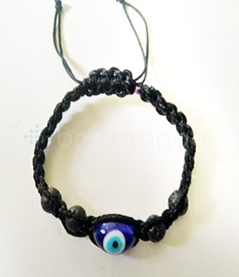 Beaded Bracelet With Lava And Dragon Eye