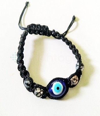 Beaded Friendship Bracelet with Dragon Eye