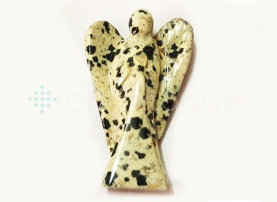Beautiful Dalmation Jasper 2INCH Angels Manufacturer of BULK Gemstone Angels - Bright Agate