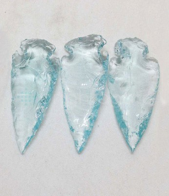 Blue Glass Arrowheads Wholesale