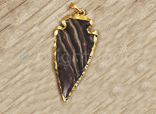 Jasper Arrowhead Arrow Head Pendant.