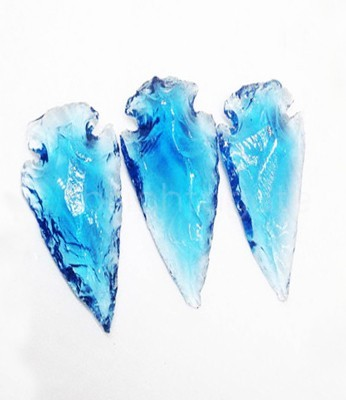 Light Blue Glass Arrowheads