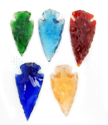 Mix Glass Arrowhead Point