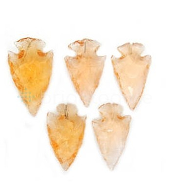Orange Glass Arrowhead