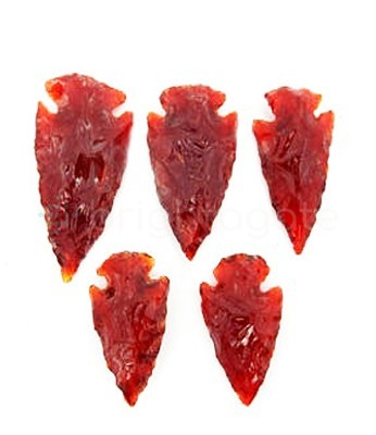 Red Cornelian Arrowheads Wholesale Red Agate Arrowheads